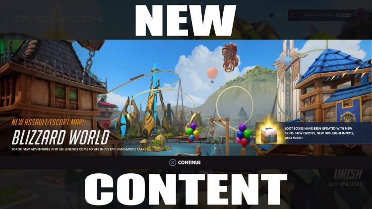 Overwatch S Blizzard World Updates Brings Cosmetics And A New Map
