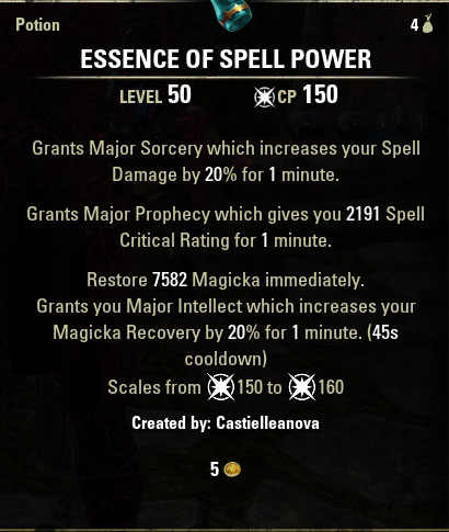 spell power pots