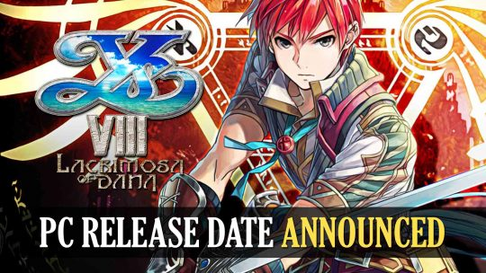 Ys VIII: Lacrimosa of Dana New PC Release Date Revealed!