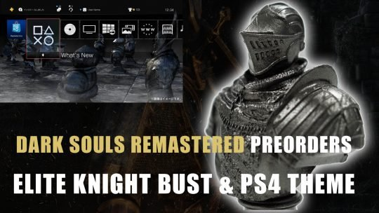 Elite Knight Bust and PS4 Theme for Dark Souls Remastered