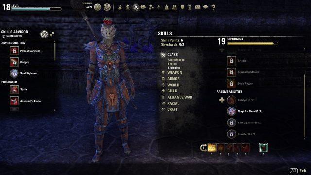 skills advisor dragon bones dlc elder scrolls