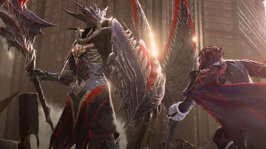 Here's a look at one of Code Vein's tough bosses in live gameplay