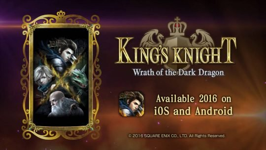 Square Enix ending service for King's Knight: Wrath of the Dark Dragon in June