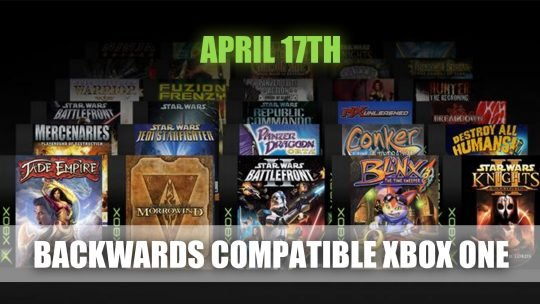 Microsoft Announces Release of Backwards Compatible Original Xbox Games for Xbox One