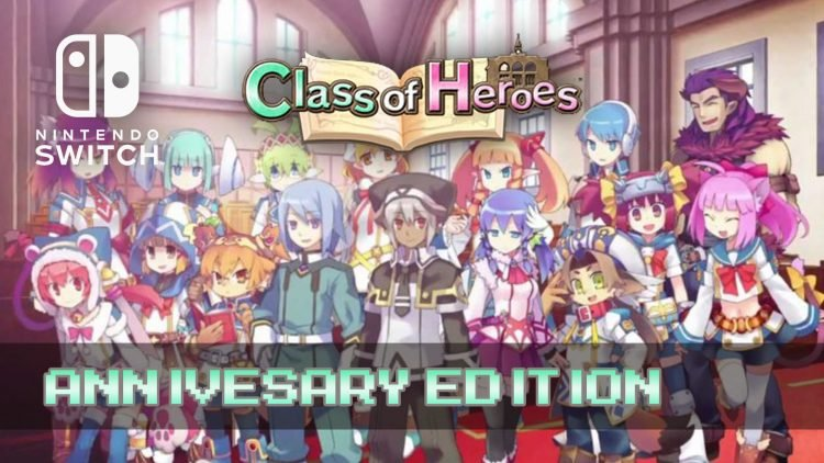 Classes of Heroes: Anniversary Edition Coming to Nintendo Switch