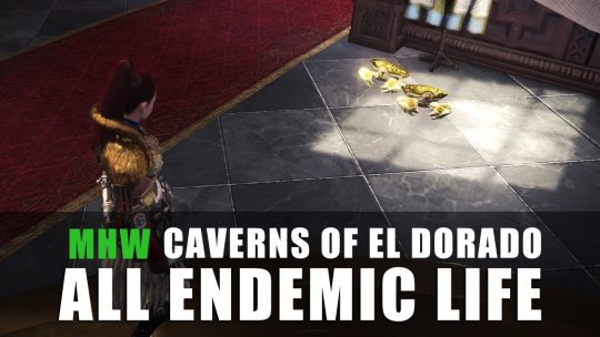 Monster Hunter World: All Endemic Life in Caverns of El Dorado