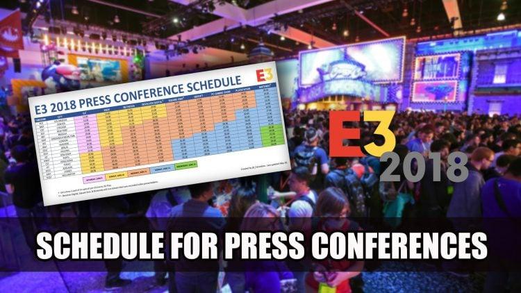 Calendrier des conférences de presse de l'E3 et jeux potentiels