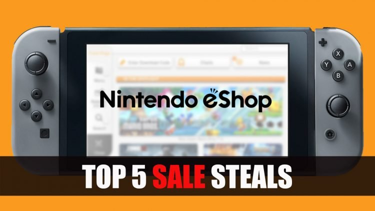 Top 5 des supers promos du Nintendo eShop américain sur Switch