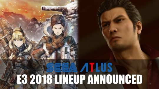 Sega and Atlus Announce Their E3 2018 Lineup