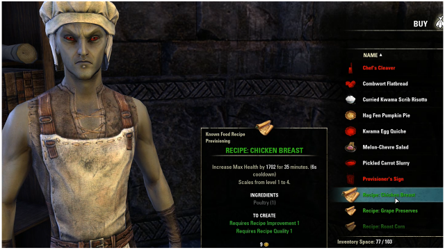 Eso provisioning guide food drinks and fast leveling fextralife some basic recipes can be bought from chefs forumfinder Choice Image