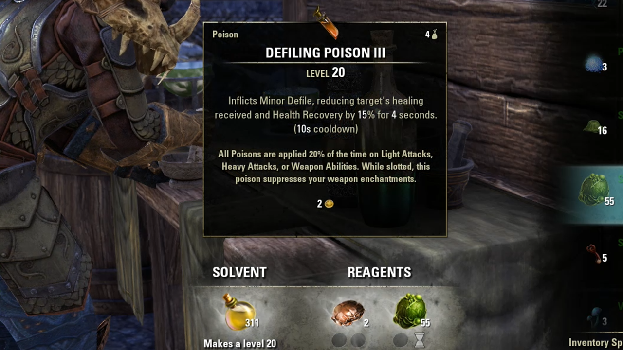 ESO Alchemy Guide: Potions, Reagents and Fast Leveling