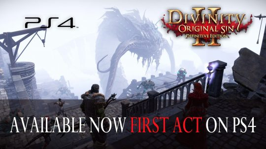 Premier acte de Divinity : Original Sin 2 disponible sur Playstation 4