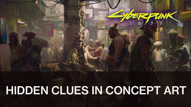 CD Projekt Red cache des messages dans l'art conceptuel de Cyberpunk 2077