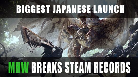 Monster Hunter World Releases On PC Breaking Steam Records for Biggest Japanese Launch