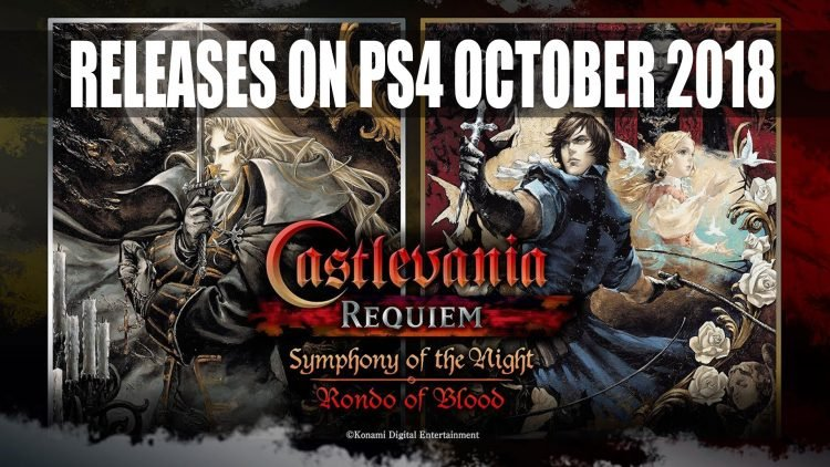 Castlevania: Symphony of the Night and Rondo Blood Comes to PS4 October 26