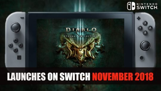 Diablo III : Eternal Collection sort sur Nintendo Switch en novembre