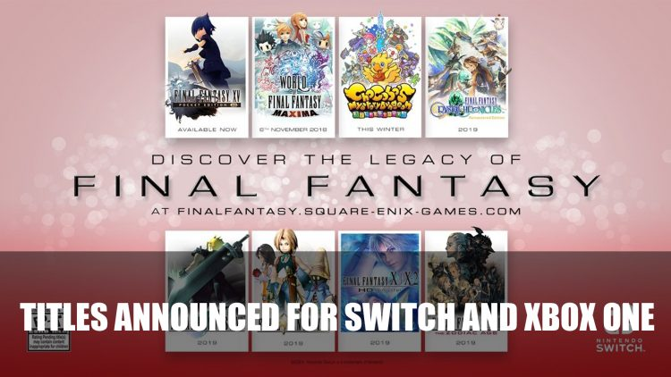 Final Fantasy VII, IX, X and More Soon Coming to Switch and Xbox One