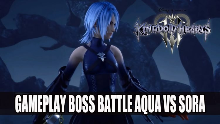Kingdom Hearts III Gameplay Video Boss Battle Between Aqua and Sora
