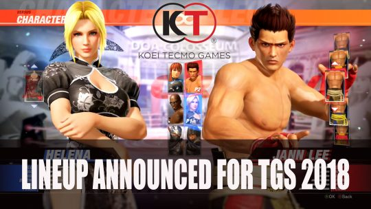 Koei Tecmo Announces Lineup for Tokyo Game Show 2018