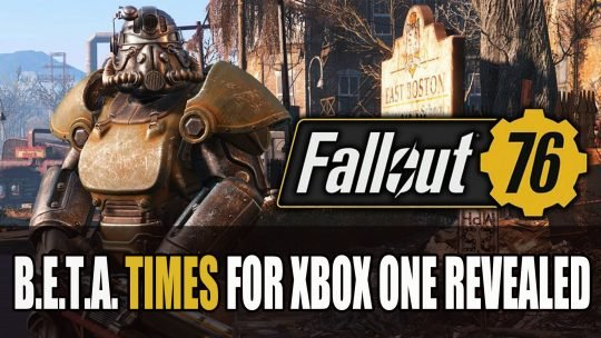 Fallout 76 Beta Test Dates and Times for Xbox One Revealed