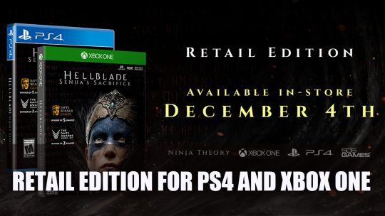 Hellblade: Senua's Sacrifice gets a retail edition for PS4 and Xbox One this December
