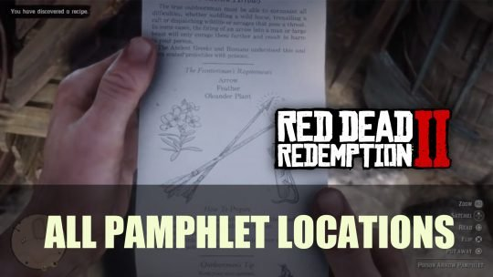 Red Dead Redemption 2: All Pamphlets Location Guide