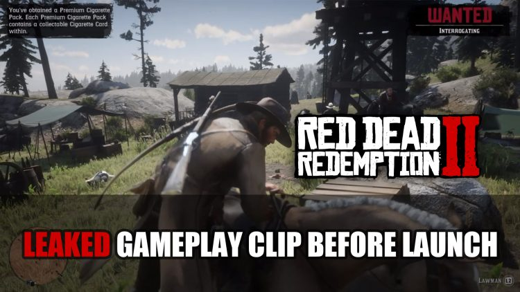Red Dead Redemption 2 Gets First Gameplay Leak Days Before Launch