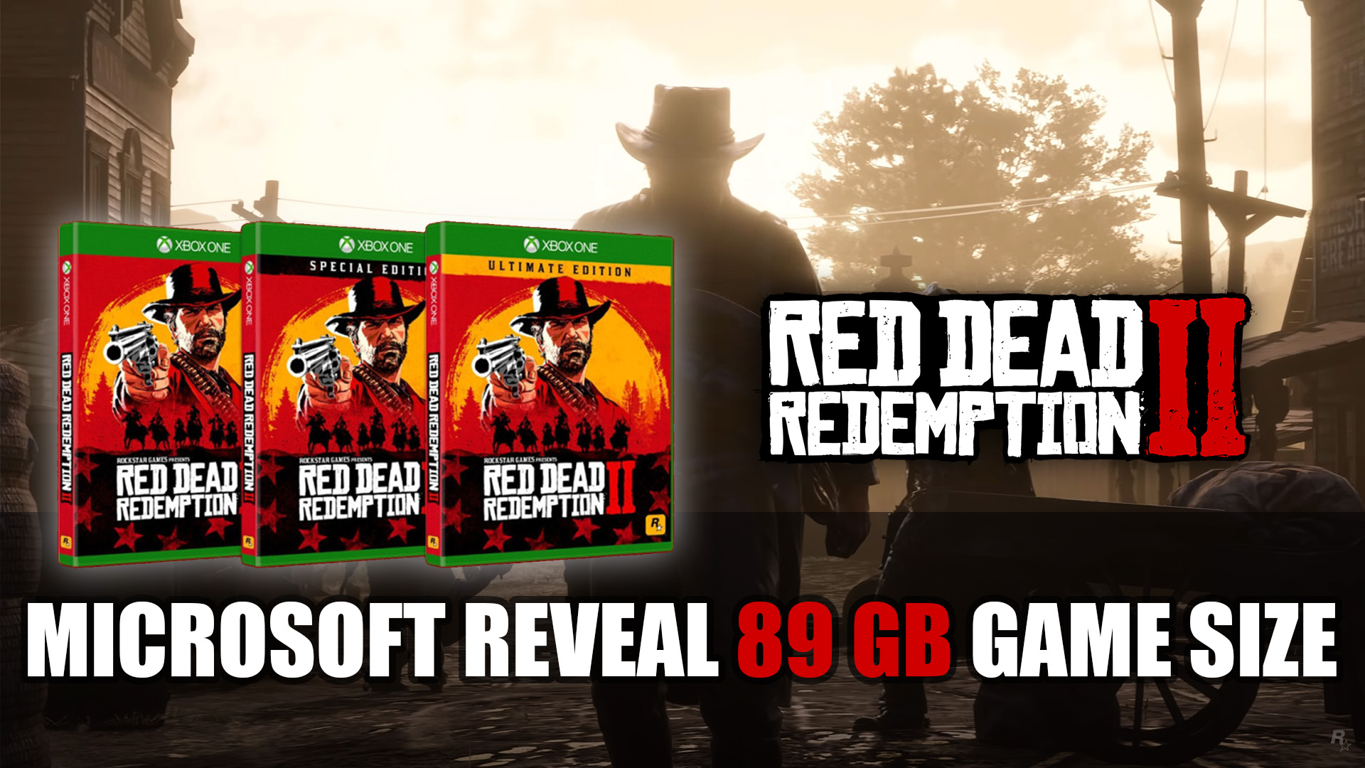 Red Dead Redemption 2 89 GB File Size Revealed for Xbox One   Fextralife
