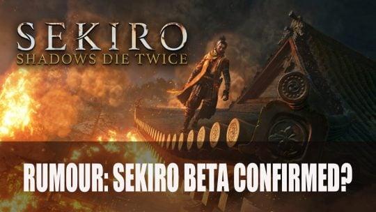 Rumeur : une fuite concernant une bêta pour Sekiro ?