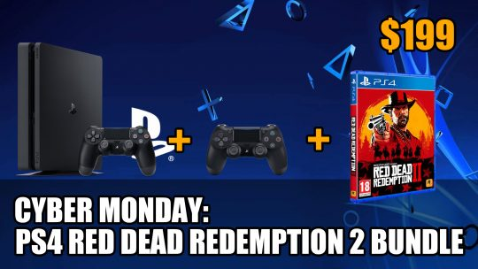 Cyber Monday Deal: PS4 Slim 1TB with Red Dead Redemption 2 Plus Two Controllers for $199