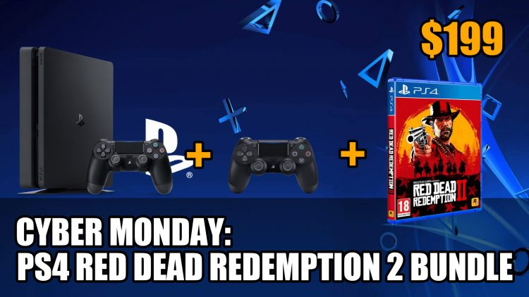 cyber monday deal ps4 slim 1tb with red dead redemption 2. Black Bedroom Furniture Sets. Home Design Ideas