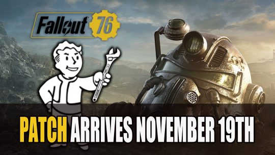 Fallout 76 November Features and Fixes