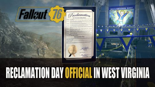 Fallout 76 Gets An Officially Recognised Reclamation Day in West Virginia