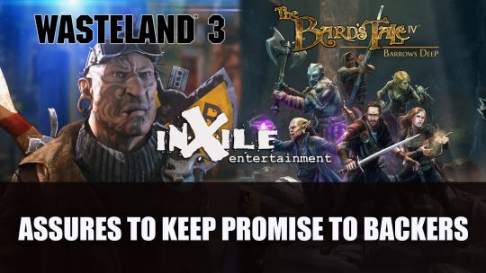 inXile Assures Wasteland 3 and The Bard's Tale IV Will Continue to be Multiplatform