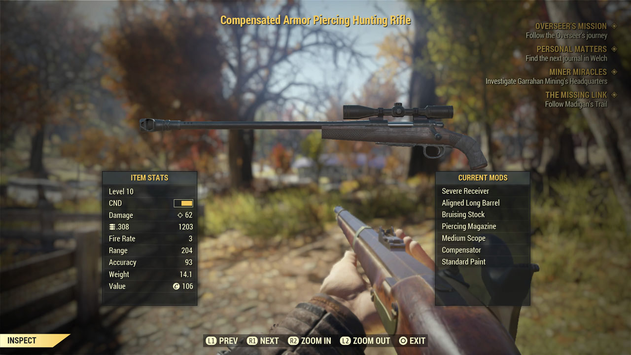 Fallout 76: The Superlative Sniper Build Guide | Fextralife