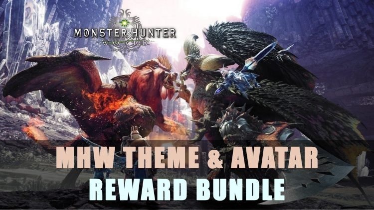 Monster Hunter World Theme & Avatar Reward Bundle