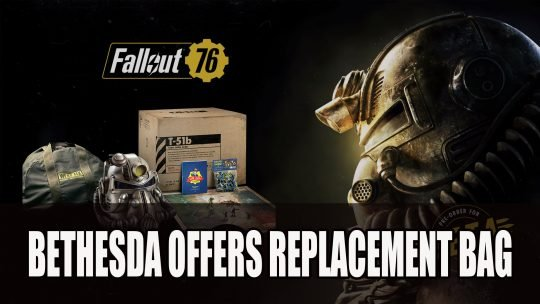 Bethesda Offers Replacement Canvas Bags for Fallout 76: Power Armor Edition