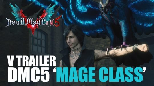 "DMC5 ""mage class"" V character Trailer features a wisecracking Bird, Summoning of panthers, Meteor Rain of Golemns"