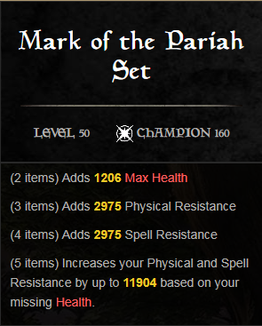 Mark of the Pariah: ESO Set Guide - Linear Defiance | Fextralife