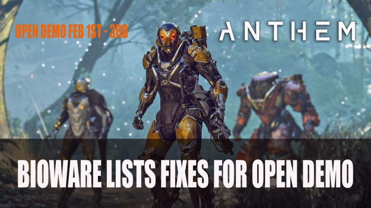 Bioware Lists Fixes They Will Implement Before Next Anthem Demo