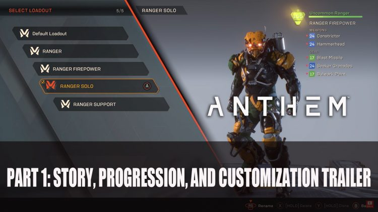 Bioware Releases Part 1 of Anthem Gameplay Series Trailer