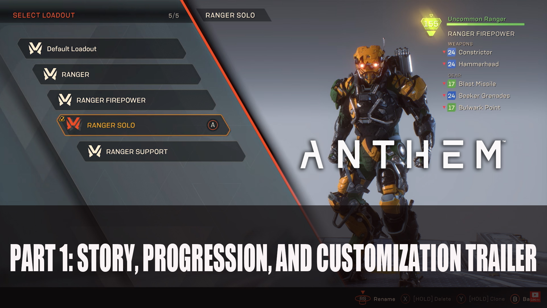 Bioware Releases Part 1 Of Anthem Gameplay Series Trailer Fextralife
