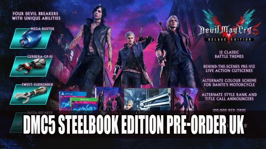 Devil May Cry 5 Deluxe Steelbook Edition Exclusive to Game for UK Release