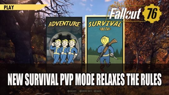 Fallout 76's New Survival PvP Mode Relaxes the Rules