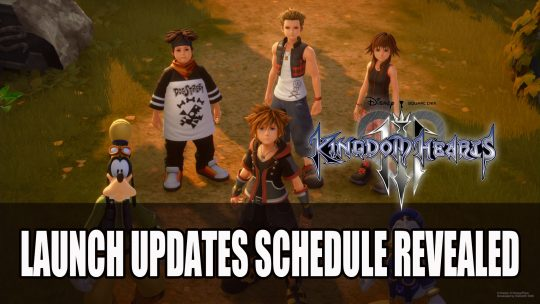 Kingdom Hearts III Launch Updates Schedule Revealed