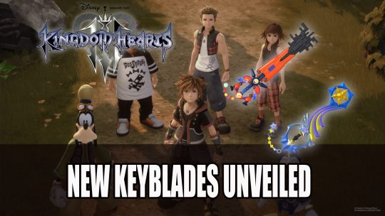Kingdom Hearts III New Keyblades Unveiled on Twitter