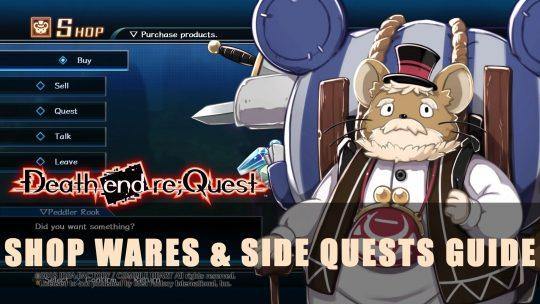 Death End Re;Quest Shop Wares & Side Quests Guide