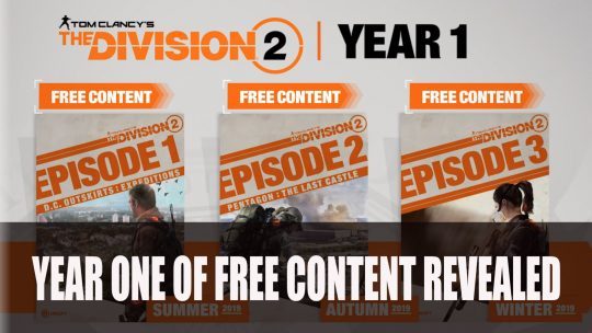 Ubisoft Outline The Division 2's First Year of Free Content
