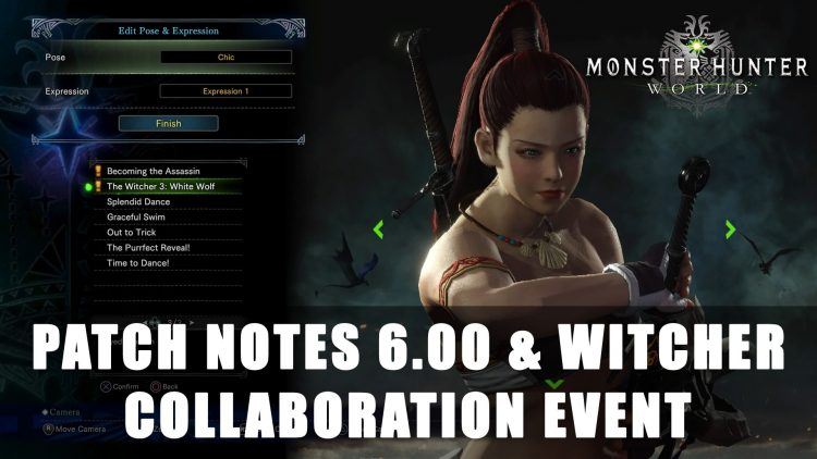 Monster Hunter World: Patch 6.00 Notes & Witcher Collaboration Event