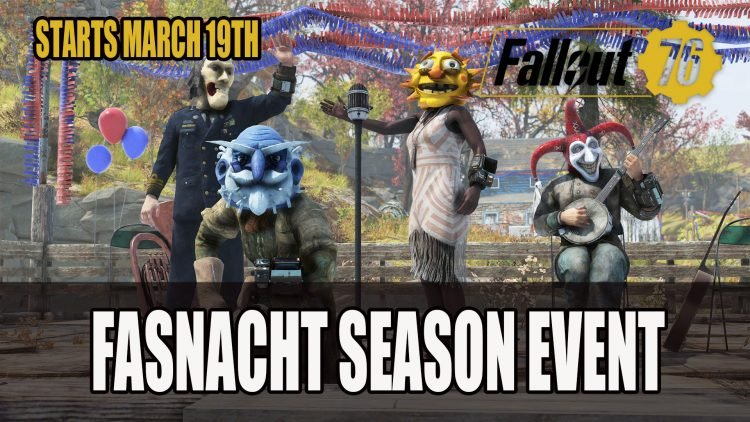 Fallout 76's Fasnacht Season Event Starts March 19th